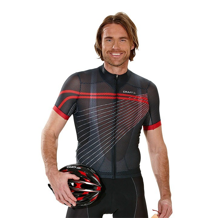 2018 Maglia CRAFT Elite Bike Mesh Superlight nero-rossa
