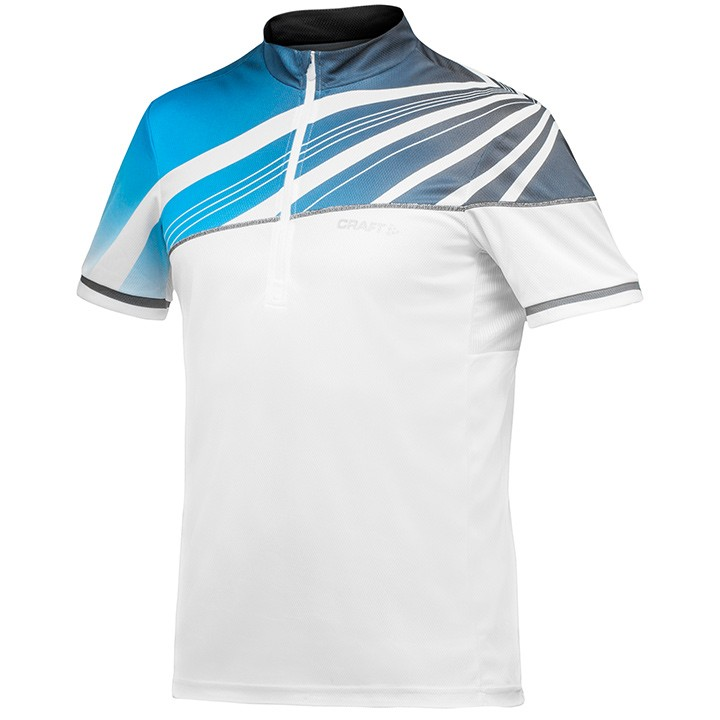 2018 Maglia MTB CRAFT Performance Bike Loosefit bianco-blu