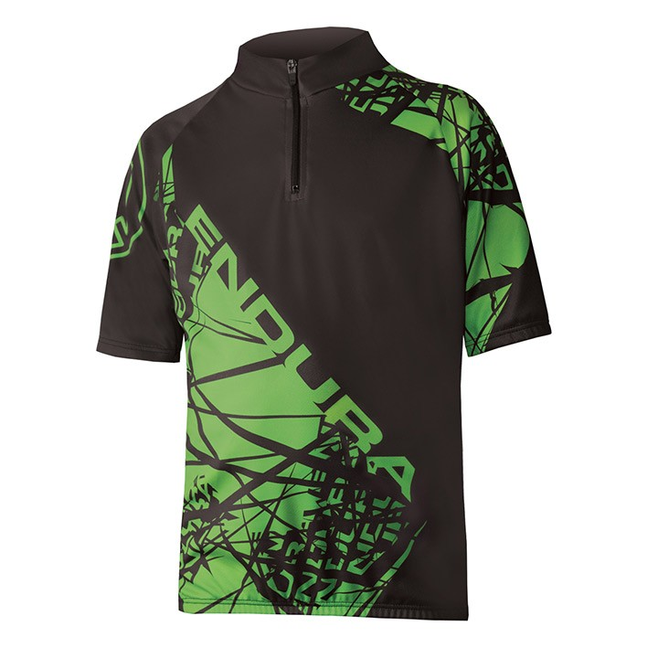 2019 Bikeshirt junior ENDURA Hummvee Ray nero-verde