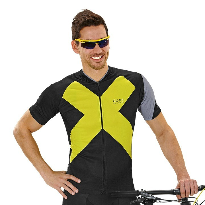 2019 Maglia ciclo manica corta GORE BIKE WEAR Element X-Road nero-gialla