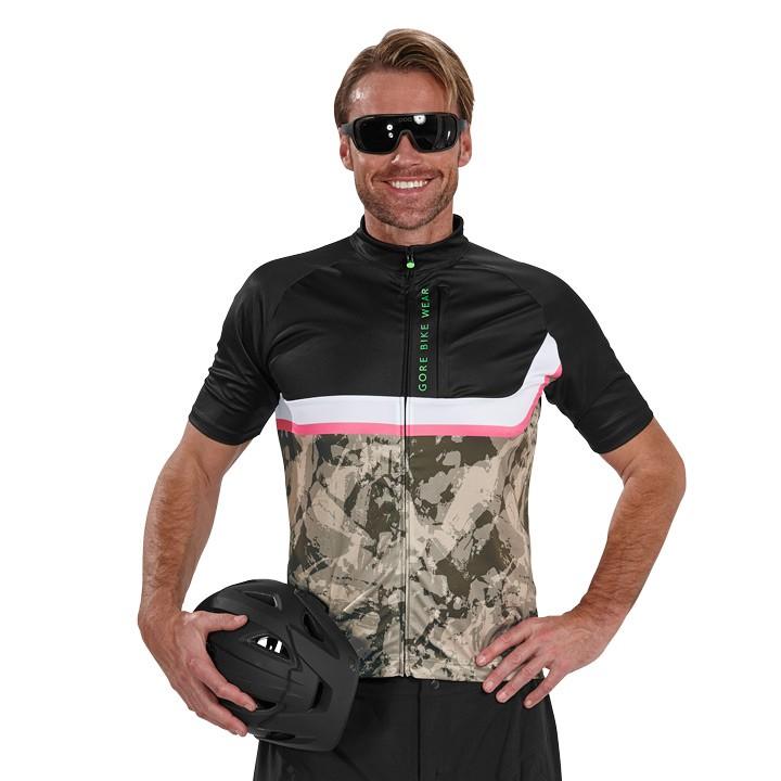 2018 Bikeshirt GORE BIKE WEAR Power Trail nero mimetico