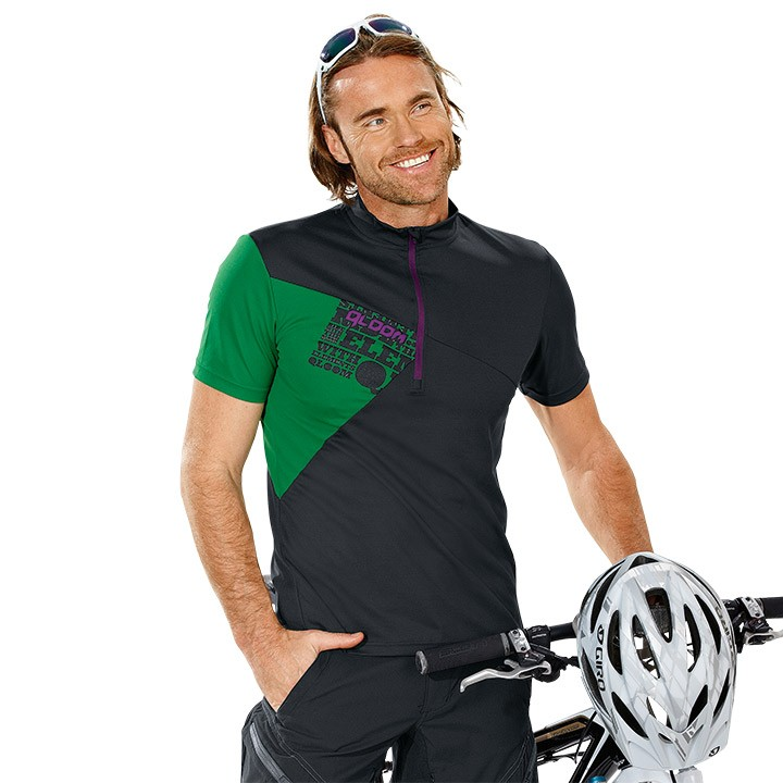 2018 Bikeshirt QLOOM Creek nero-verde