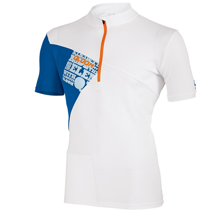2018 Bikeshirt QLOOM Creek bianco-blu