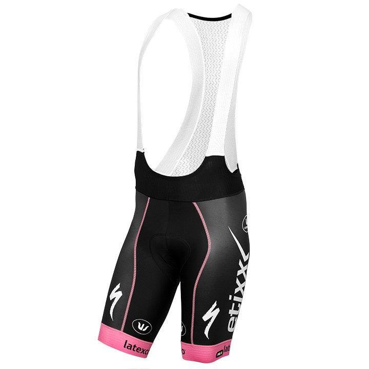2016 Pantaloncino con bretelle PRR LTD Edition rosa ETIXX-QUICK STEP